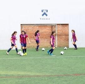 Equipo de futbol del Colegio Del Opus Dei para niñas - Colegio Yaocalli